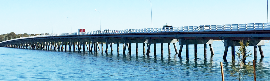 One of the only two bridges in Australia that access an Island