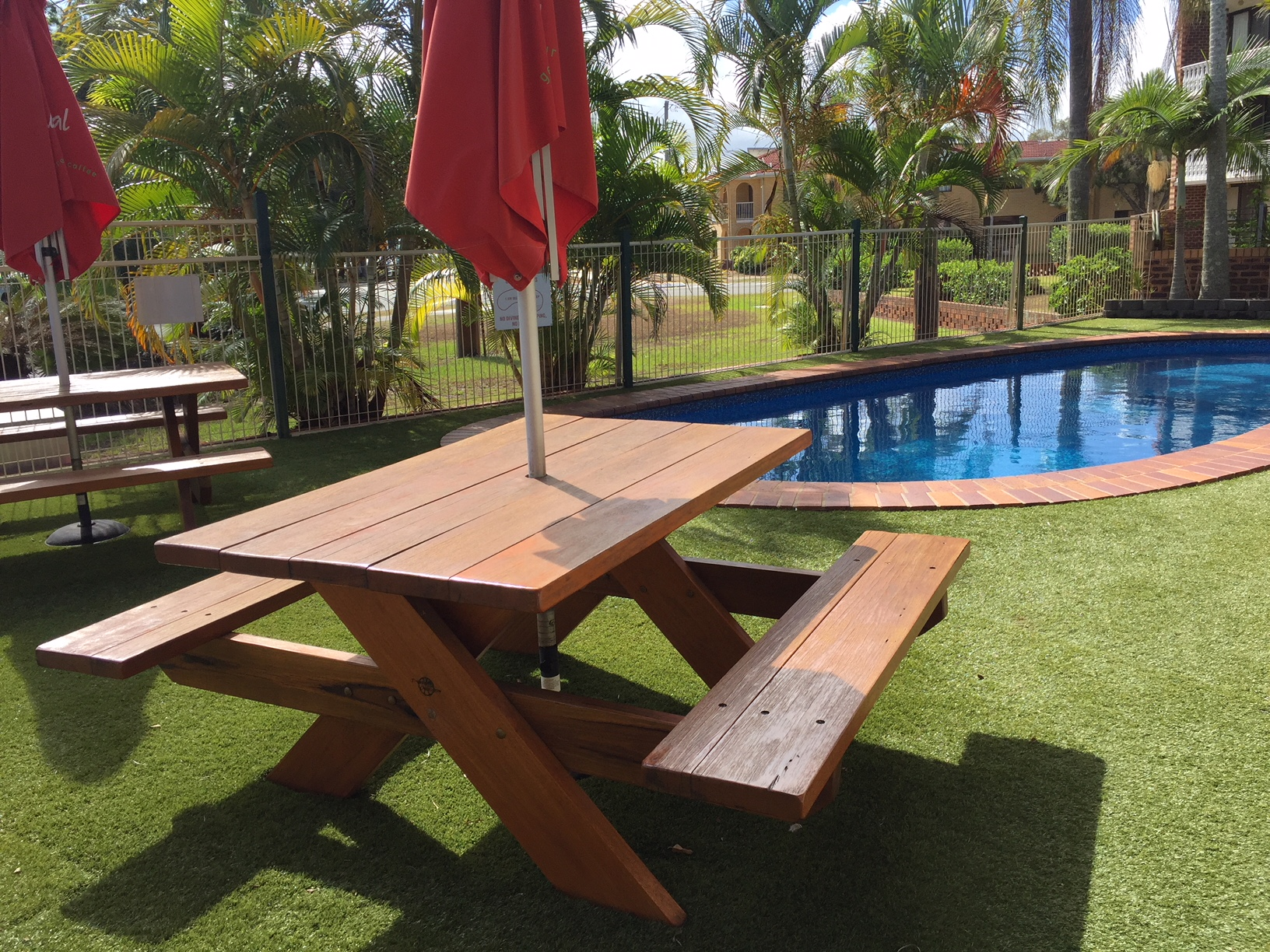 Relax by the pool at Bribie Island Waterways Motel