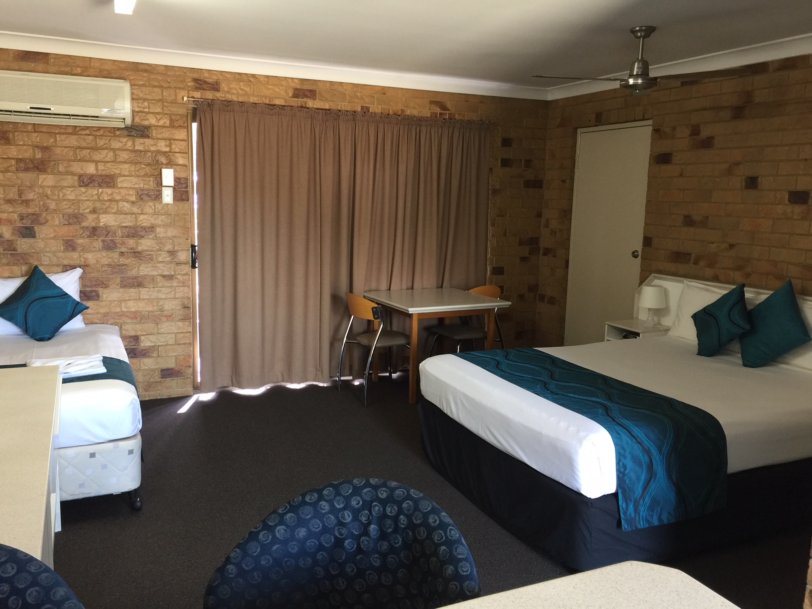 Comfortable Queen size bed at Bribie Island Waterways Motel